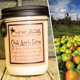 1803 Soy Candle CRABAPPLE FARM 14 oz. Jar  Fresh Cut Apples