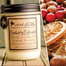 1803 Soy Candle CRANBERRY CUPBOARD 14 oz. Jar  Tart Cranberry