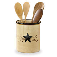STAR & BERRY VINE CERAMIC UTENSIL CROCK Park Designs 307-699